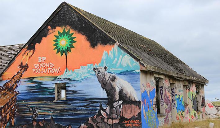 pirou plage street art normandie