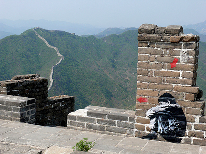 jef aérosol grande muraille de chine