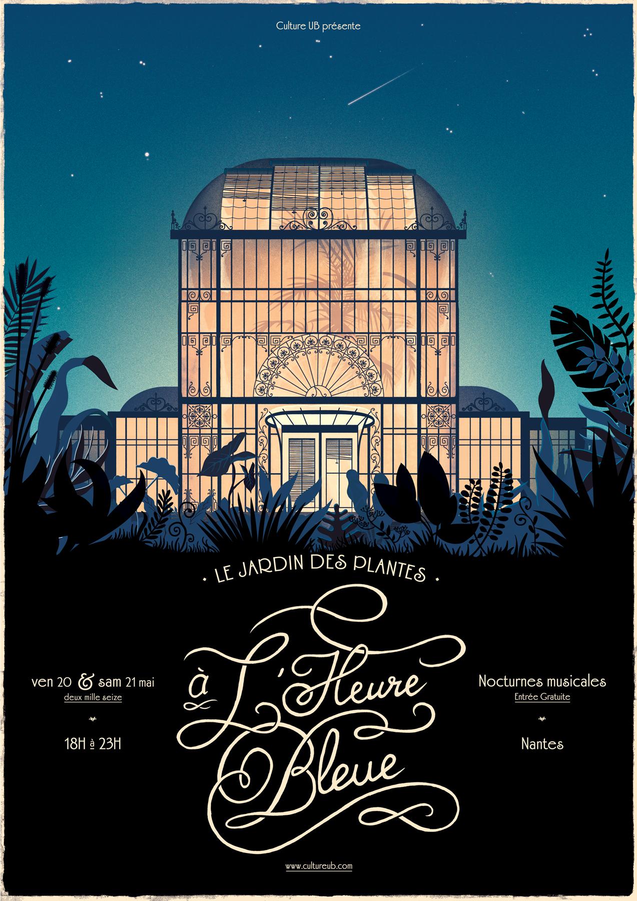 Festival l 39 heure bleue au jardin des plantes nantes bigcitylife for Jardin des plantes nantes de nuit