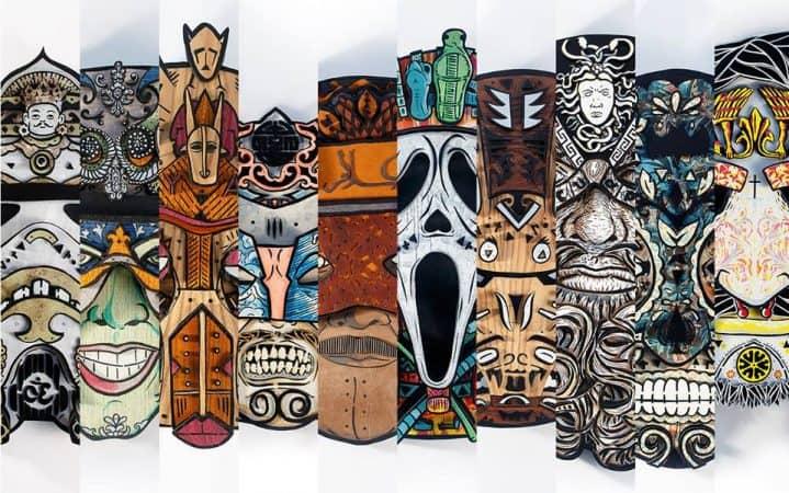 Les masques en bois - © Noty & Aroz