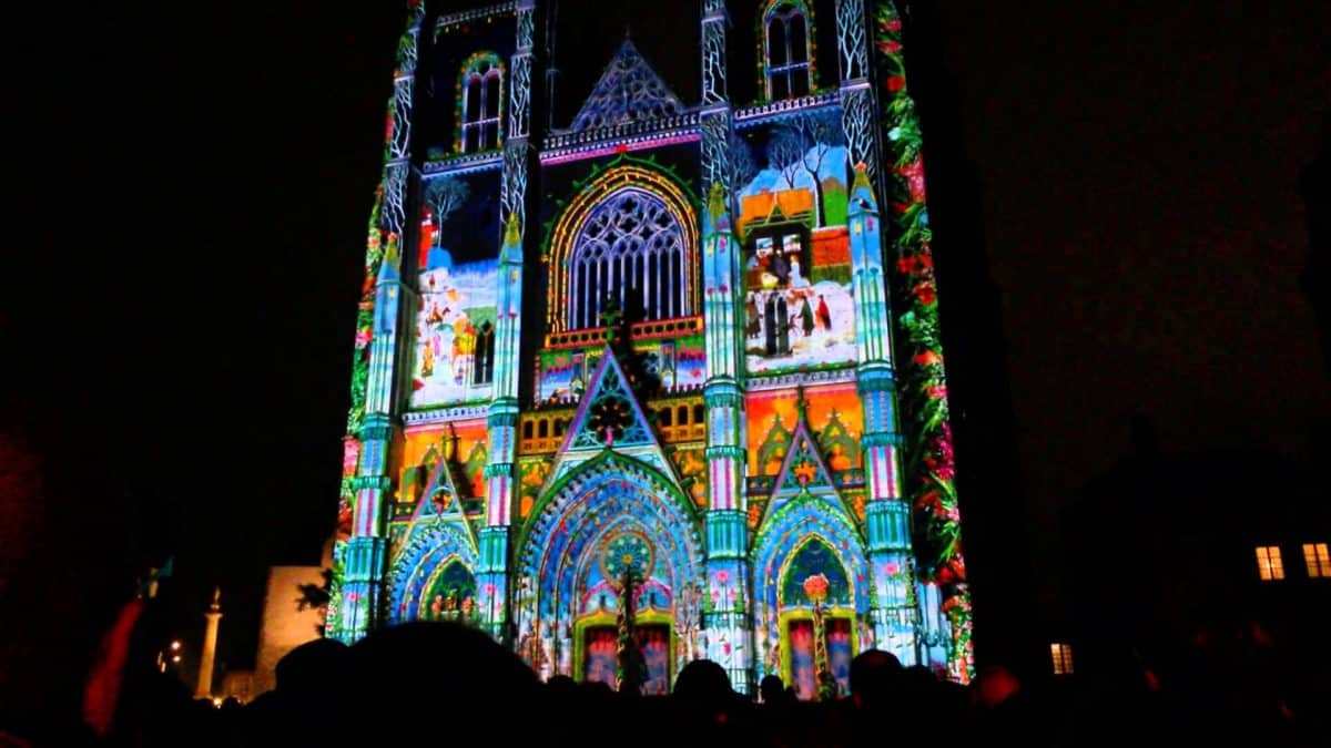 cathedrale nantes noel spectacle son lumiere nantes 2020