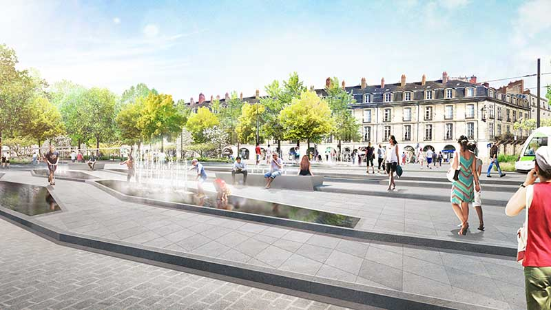 projet Feydeau Commerce © Agence Jacqueline Osty & associés