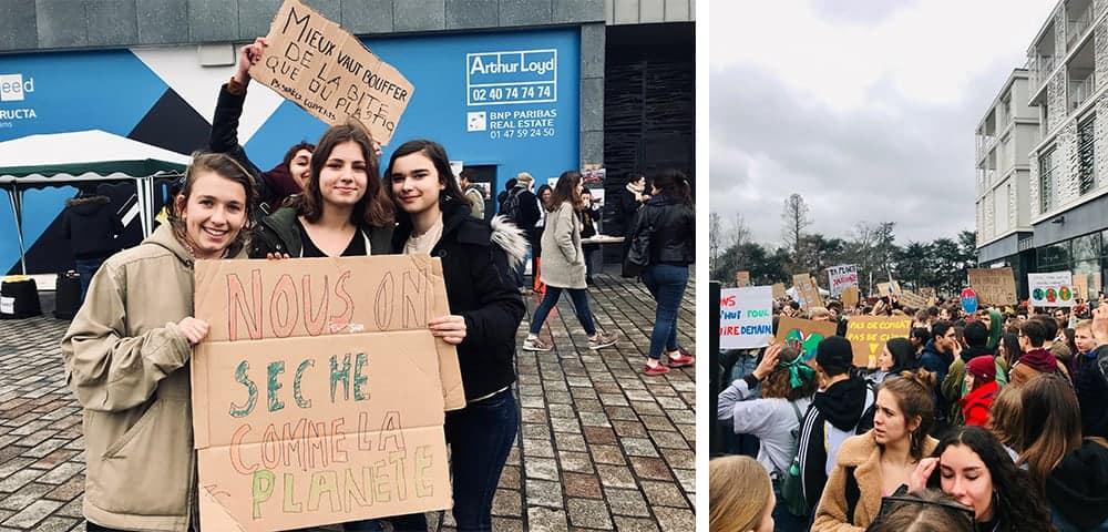les meilleurs slogans de la greve mondiale pour le cimat nantes