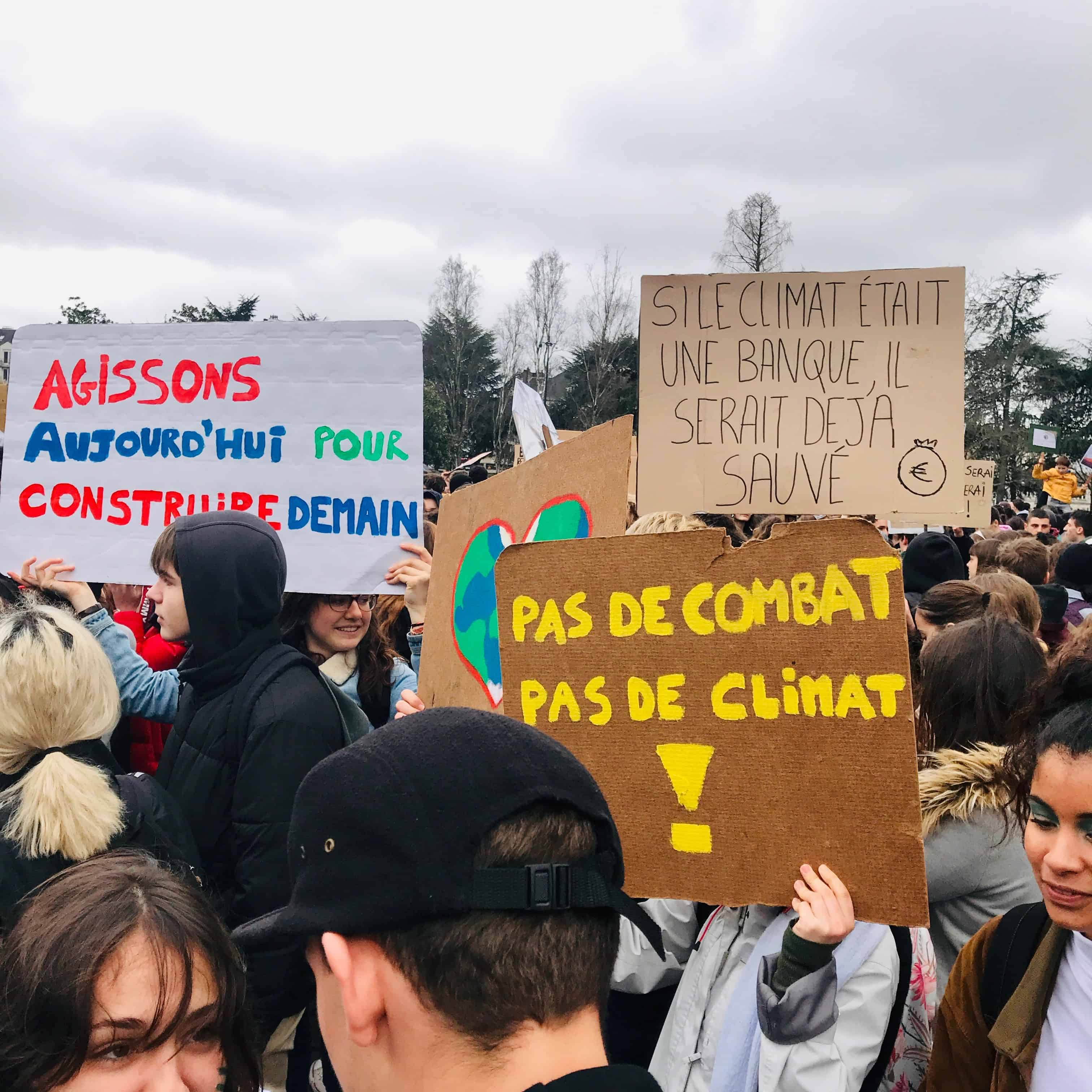 meilleurs slogans nantais de la greve mondiale pour le climat nantes