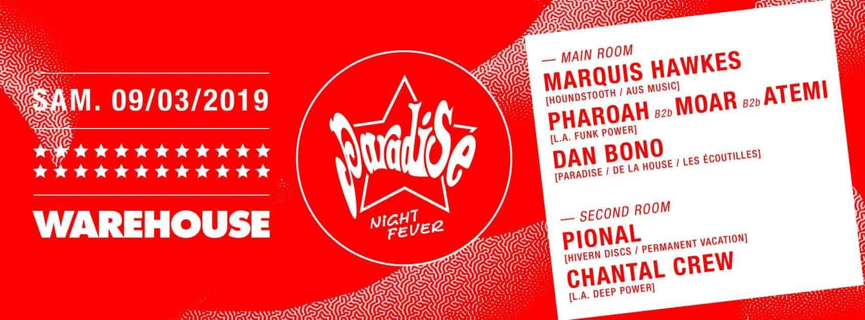 paradise night fever au warehouse
