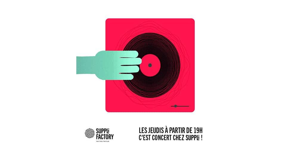 Le jeudi à Suppli Factory ? C'est concerts gratuits !