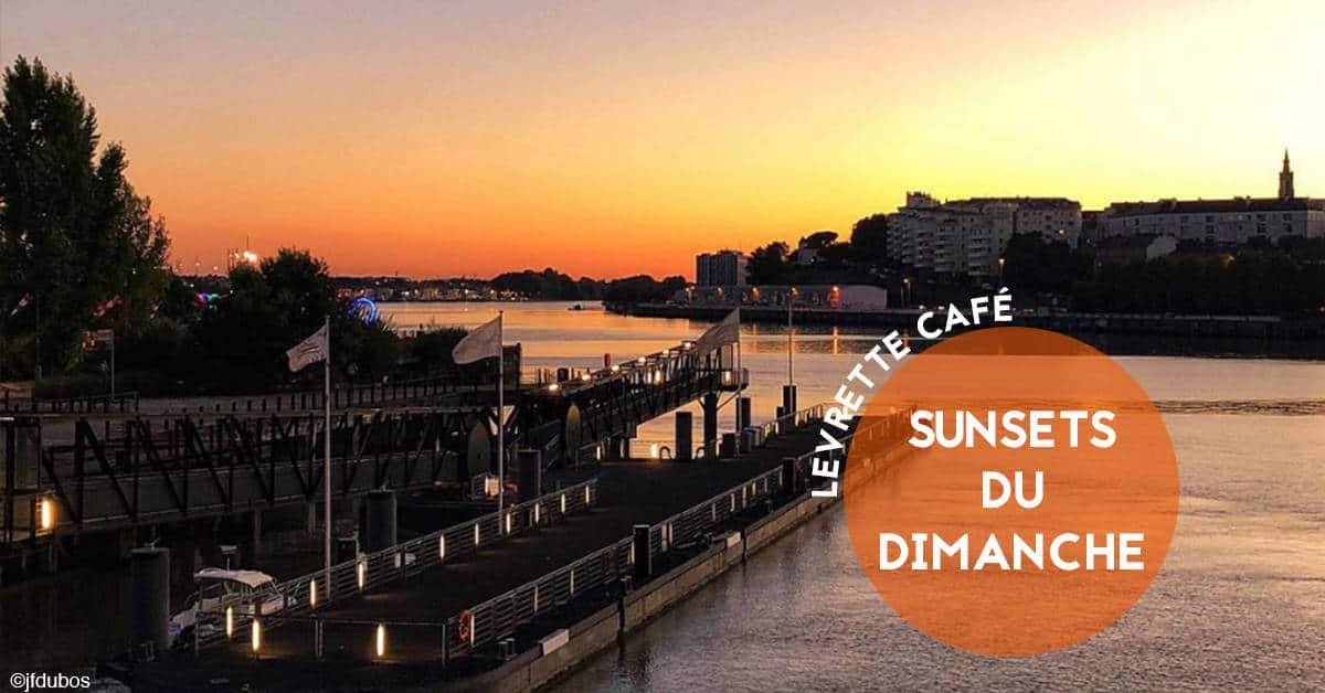 sunsets du dimanche au levrette cafe nantes nautilus