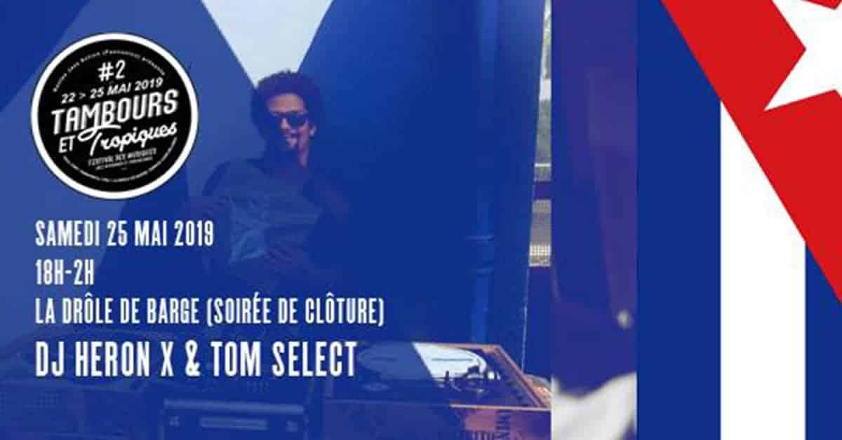 Embarquez à bord de la drôle de barge avec DJ Heron & Tom Select !
