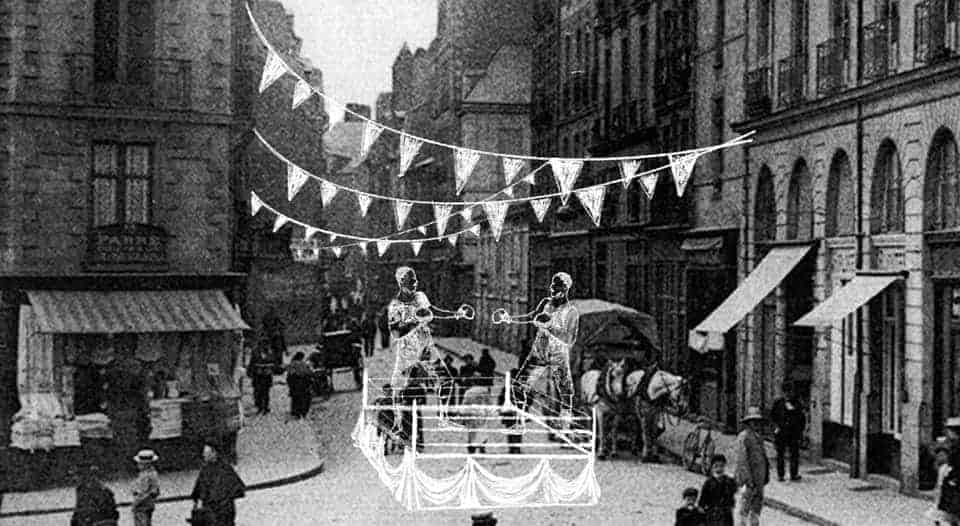 rue Jamin XIXe  samedi spectacles Raffinerie nantaise