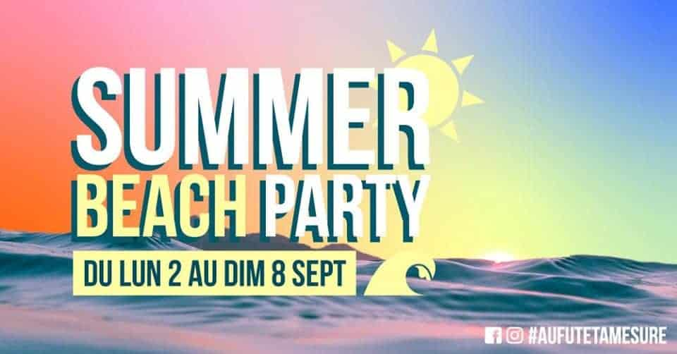 summer beach party au fut et a mesure