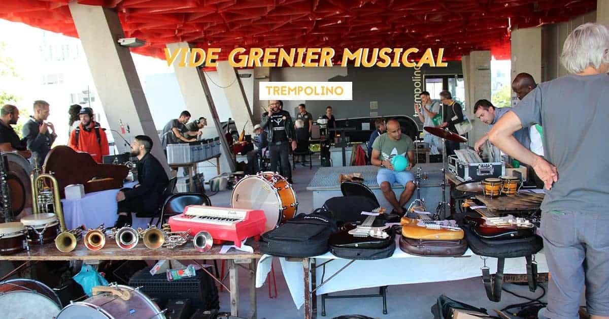 Vide grenier musical et bourse aux vinyles à Trempolino !