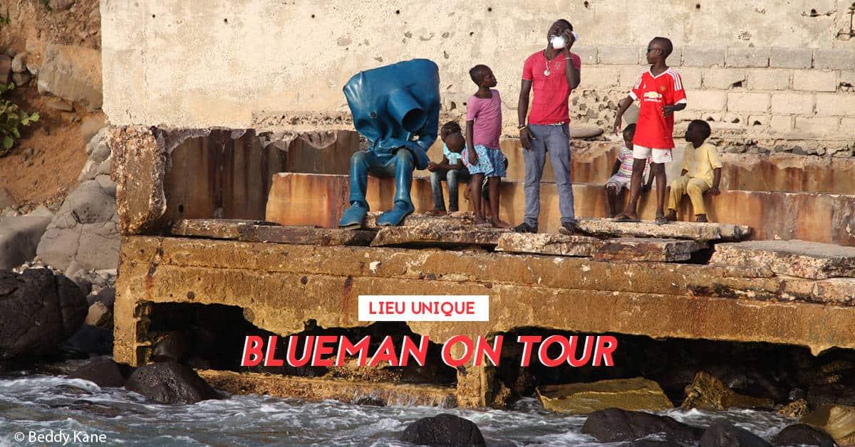 blueman on tour homme bleu exposition nantes 1
