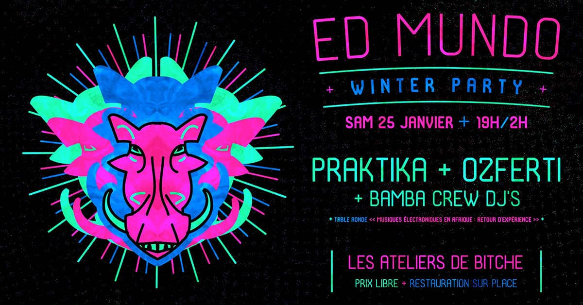 ed mundo winter party 2020 aux ateliers de bitche