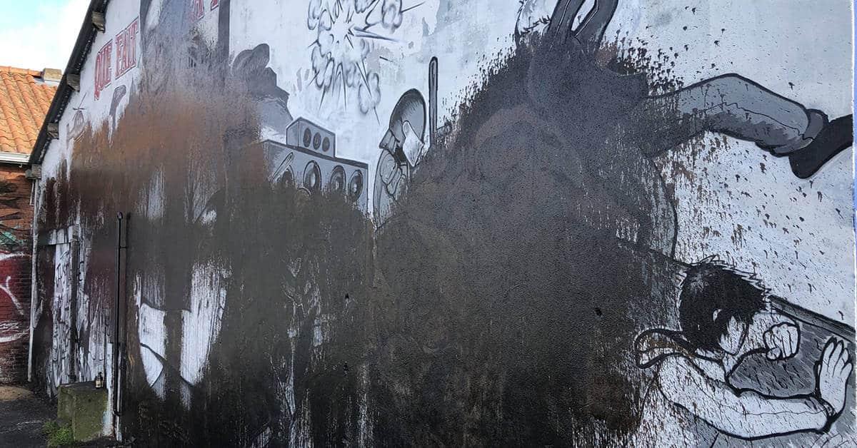 steve fresque goudron détruite nantes