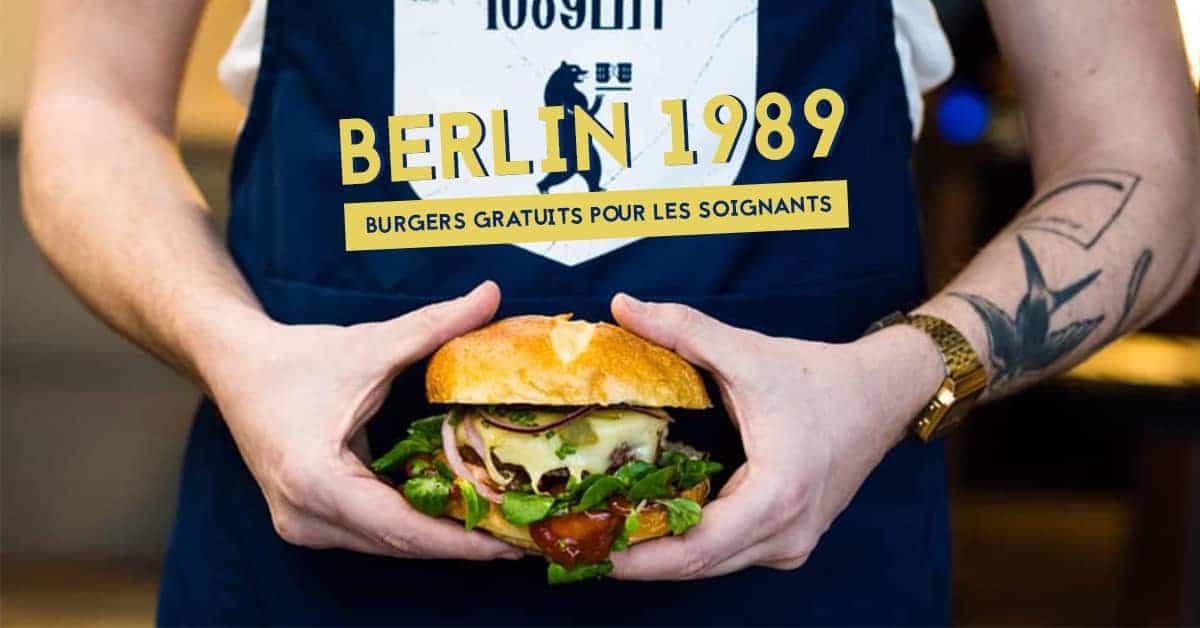 coronavirus nantes berlin 1989 burgers gratuits pour personnel hospitallier