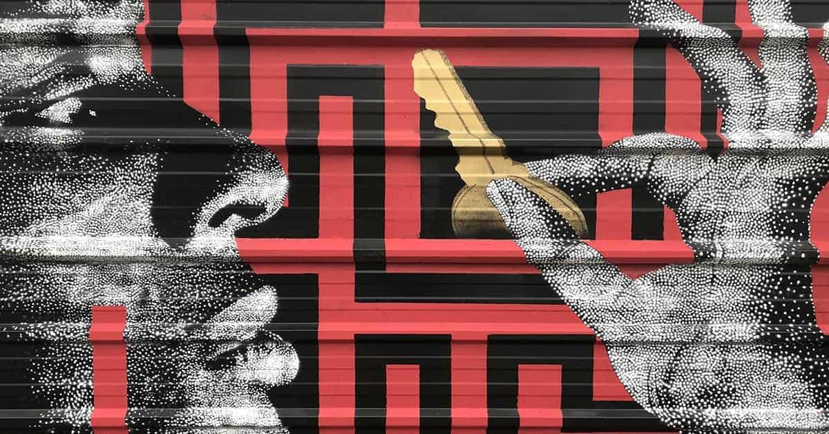 ladybug nantes street art