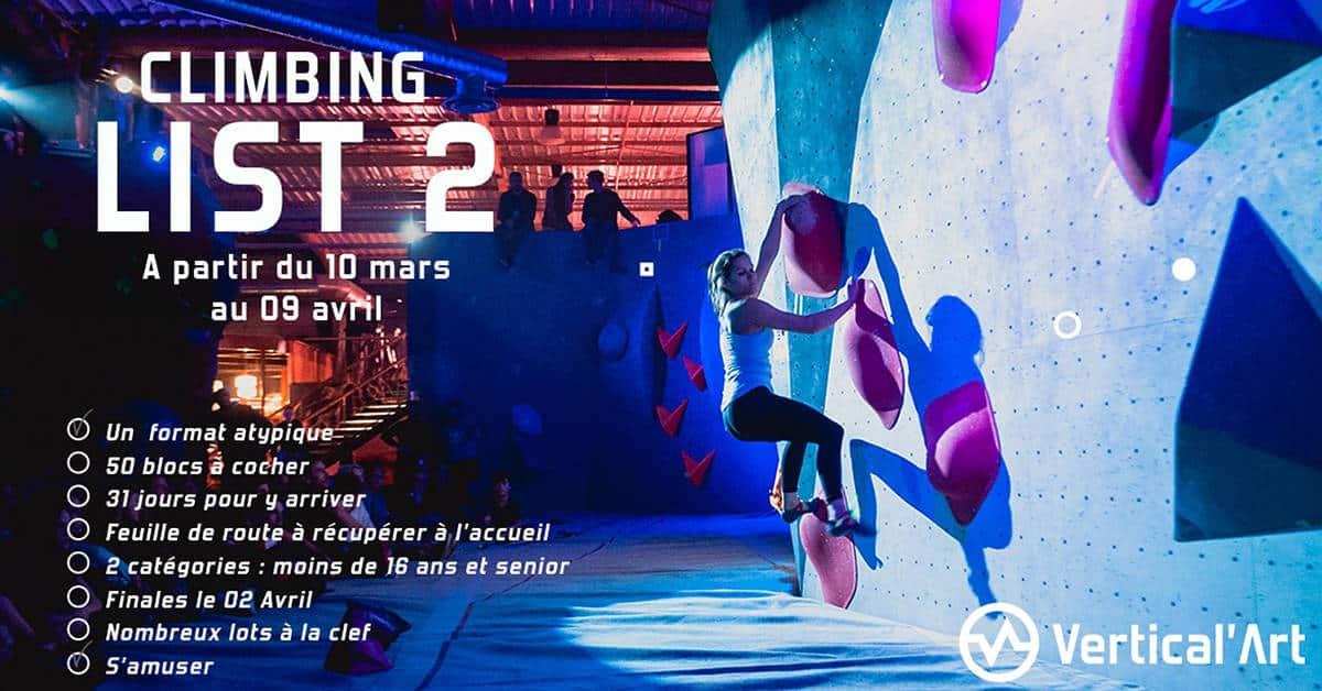 vertical art climbing list