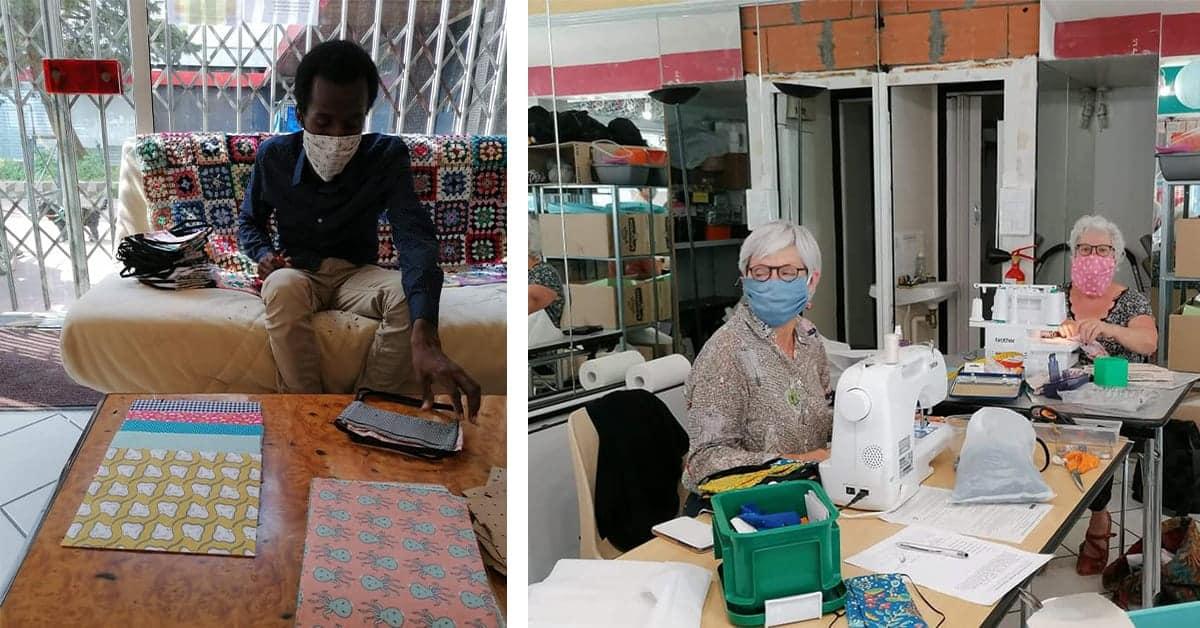 solidarite 15 000 masques femmes en fil