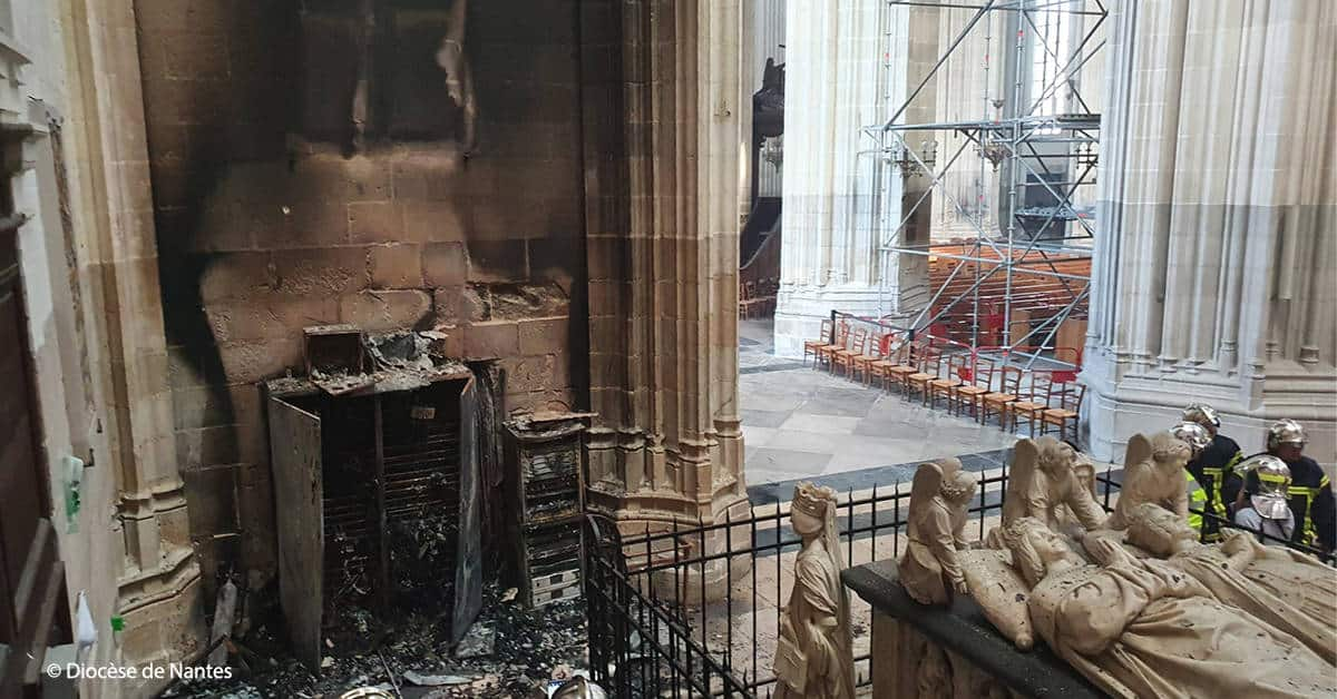 cathedrale de nantes incendie 2020