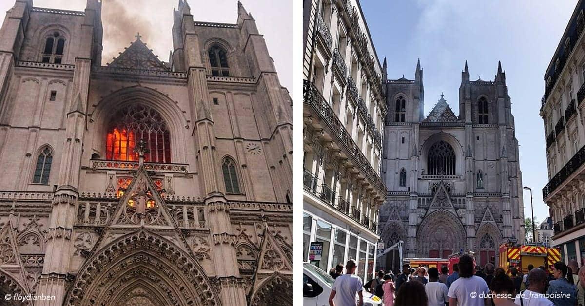 cathedrale de nantes incendie