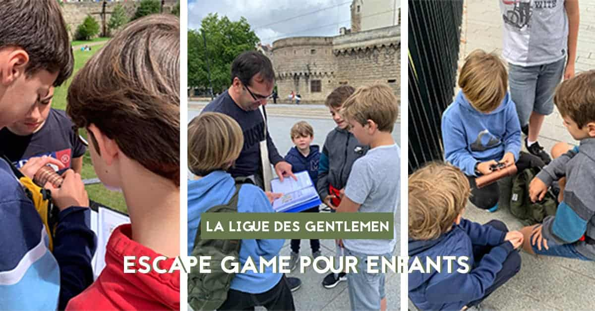 la ligue des gentlemen escape game pour enfants nantes 2020