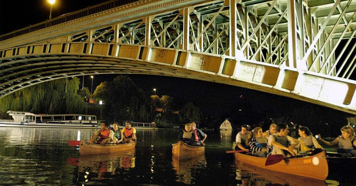 nantes camping petit port balades nocturnes canoe