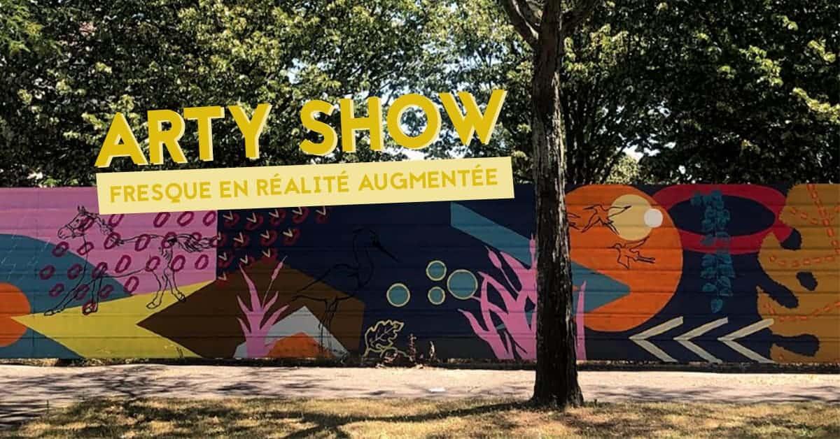 arty show fresque en realite augmentee nantesarty show groupe arc nantes