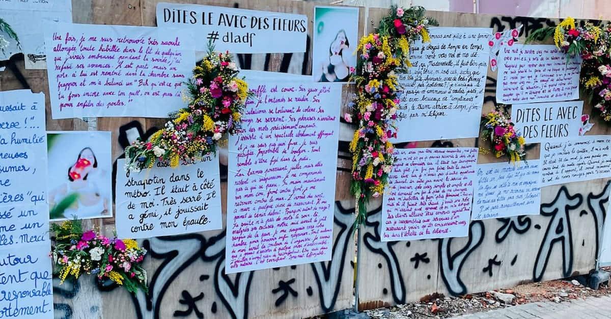 dites-le avec des fleurs nantes 2021 street art temoignages violences 1