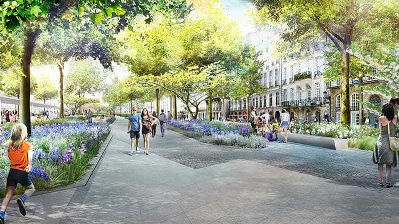 projet Feydeau Commerce 2021 fontaines